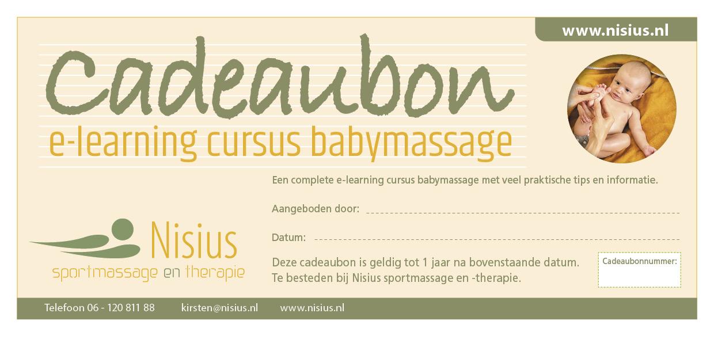 Cadeaubon e-learning cursus babymassage